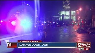 Downtown Tulsa Takes Hit From Storms