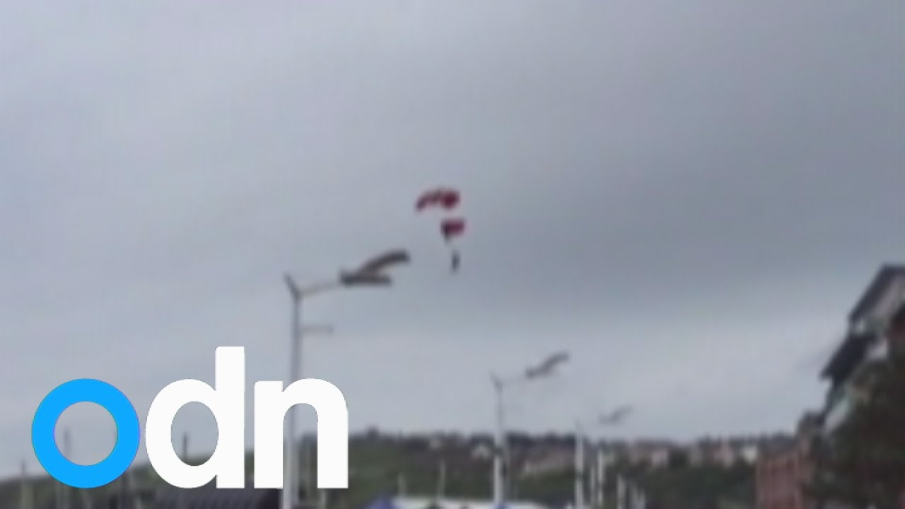 Red Devils parachute rescue caught on camera