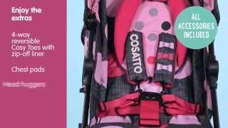 видео коляски Cosatto Supa с динамиками