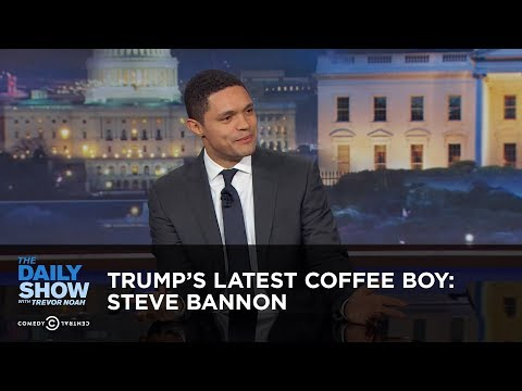 Between the Scenes – Trump's Latest Coffee Boy: Steve Bannon: The Daily Show