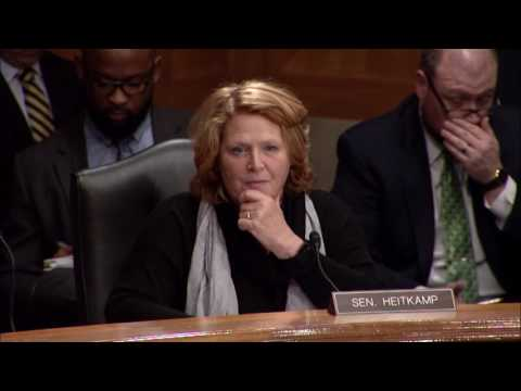 Heitkamp Questions Nominee to Lead Office of Management and Budget at Senate Hearing