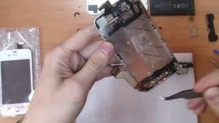 Разборка сборка iPhone 4S замена дисплея замена тачскрина замена модуля iPhone 4S
