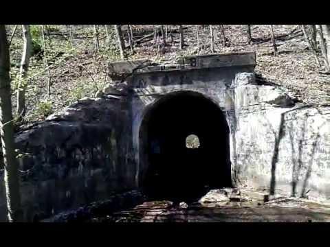 Mountain Tunnel Circa 1918 - Raven Run Creek, West Mahanoy Township, PA