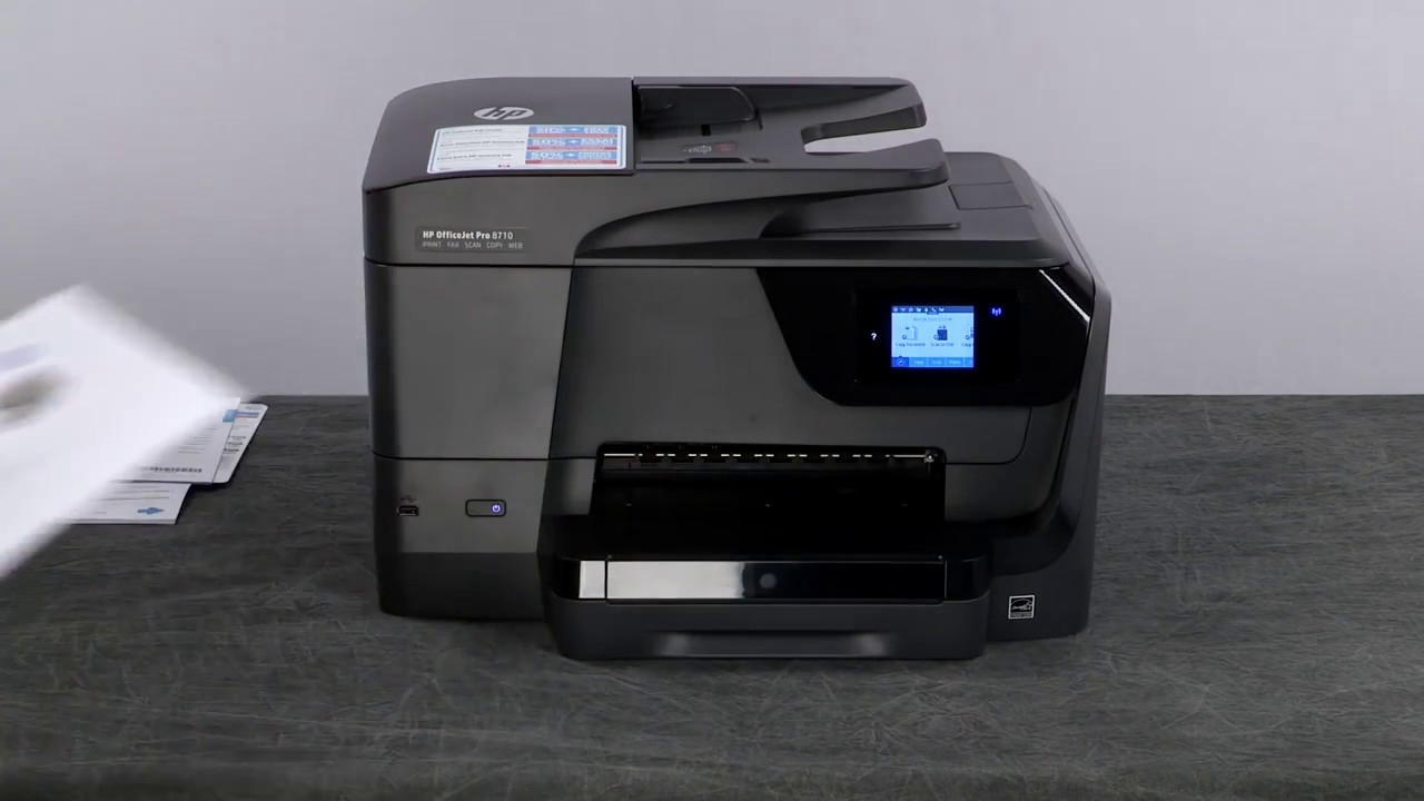 hp officejet pro 8710 printer youtube. Black Bedroom Furniture Sets. Home Design Ideas