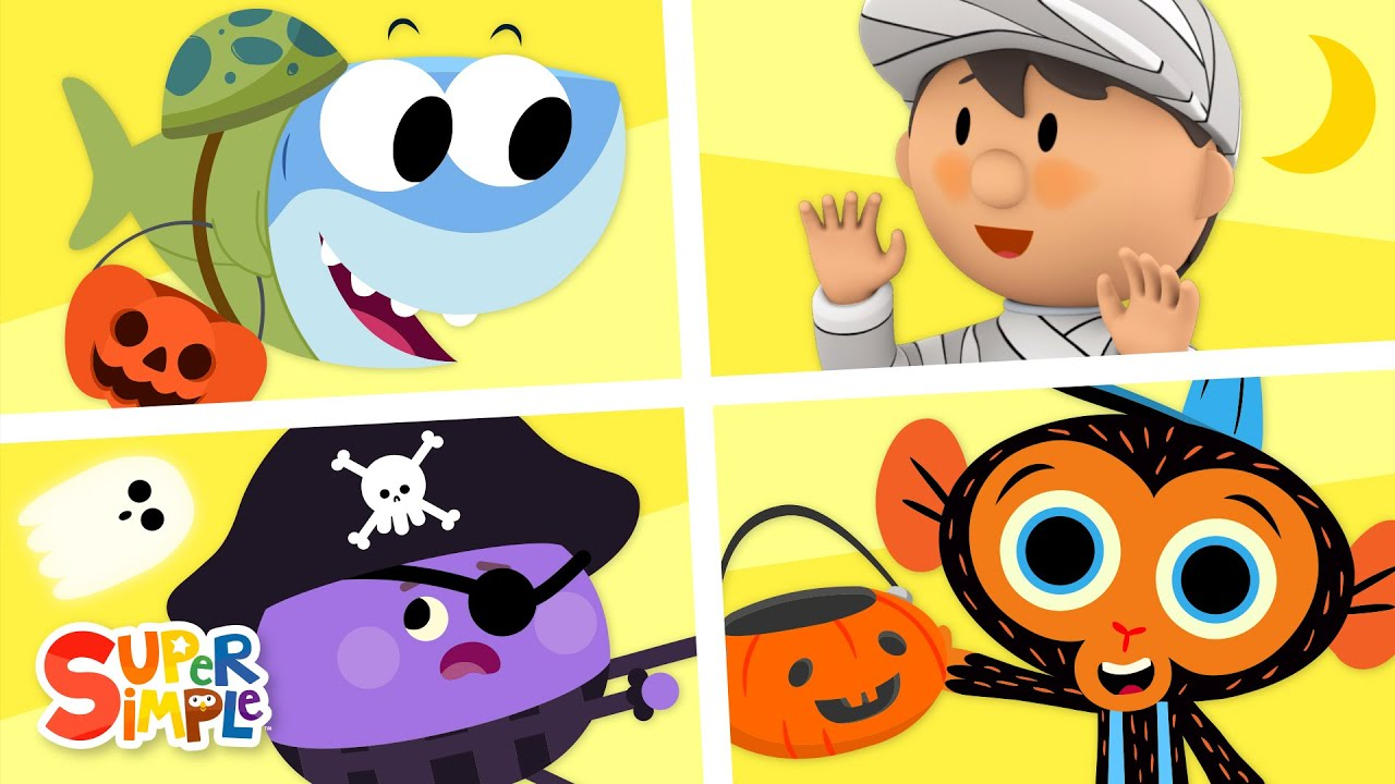 Halloween Cartoons! | Super Simple Kids Cartoon Collection #7!