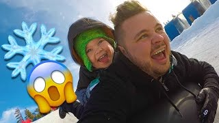 SUPER FAST SNOW SLEDDING!