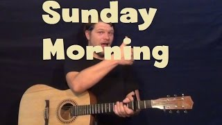 Sunday Morning (Maroon 5) Easy Strum Guitar Lesson How to Play Tutorial