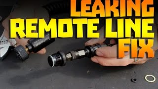 Leaking Paintball Remote Line Fix