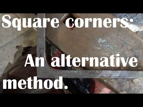 Blacksmith: An alternative method of forging square corners.