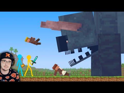 Анимация vs. МАЙНКРАФТ ► ТИТАН - Ep 23 ( Animation vs. Minecraft ) Titan Ravager | Реакция