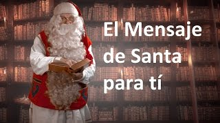 El mensaje de Papá Noel Santa Claus para los niños y el paseo navideño en reno en Laponia Finlandia