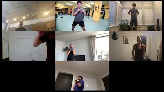 Boxing session on Zoom 08/24