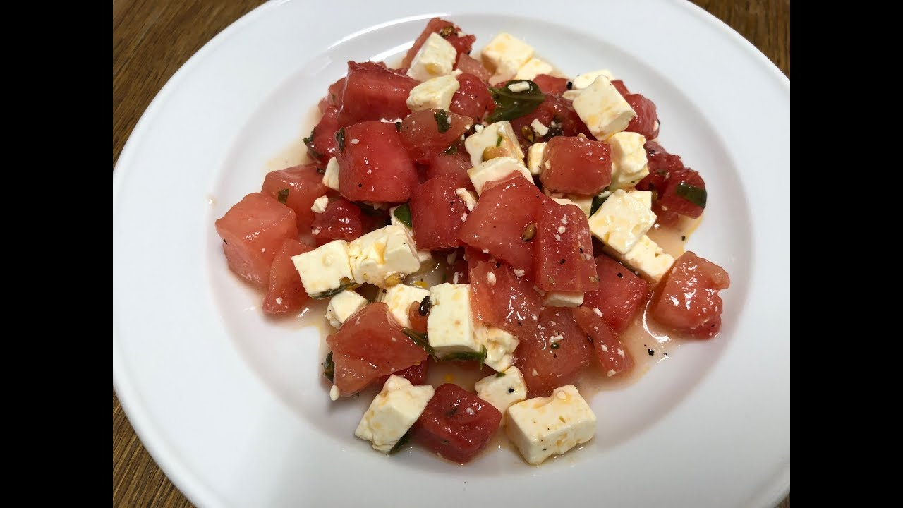 Wassermelone Feta Salat Aus Der Monsieur Cuisine Connect Youtube