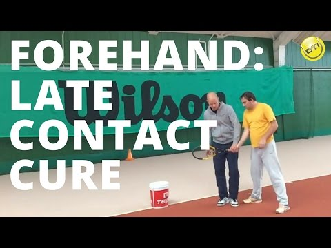 Tennis Forehand Tip: Late Contact Cure