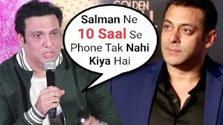 Govinda SHOCKING Comments On Salman Khan At Fryday Movie Trailer Launch