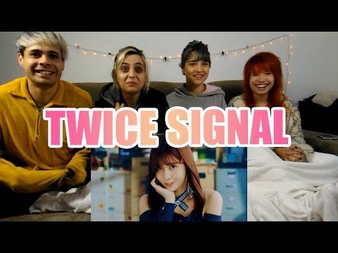 "Thumbnail: TWICE ""SIGNAL"" MV Reaction (IN PAJAMAS)"