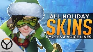 Overwatch: All Holiday Legendary Skins, Emotes & Voice Lines