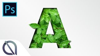 How to create realistic leaves typography with paper cut - Tutorial - Photoshop