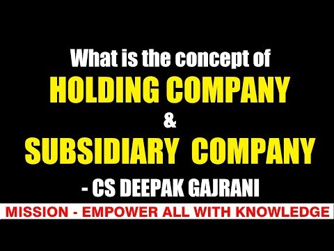 What is the concept of Holding Company & Subsidiary Company?  CS/CA/CMA