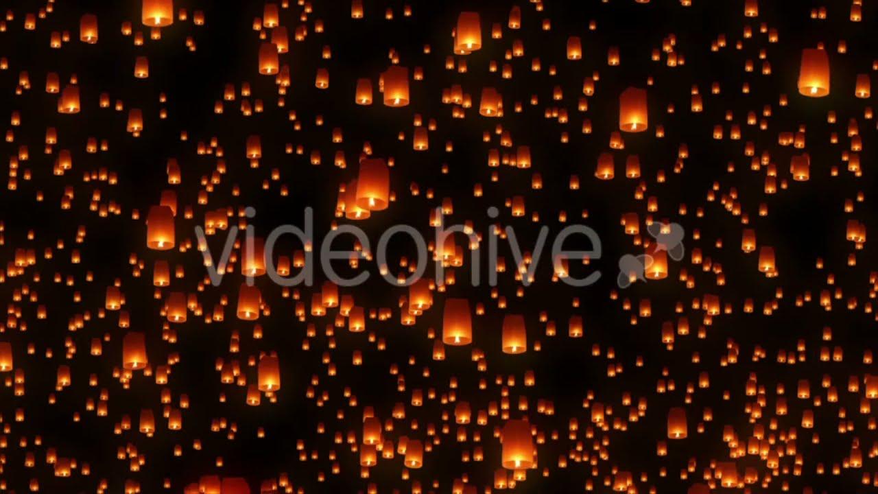 Sky Lantern Festival Motion Background - YouTube for Flying Lantern Lights  584dqh