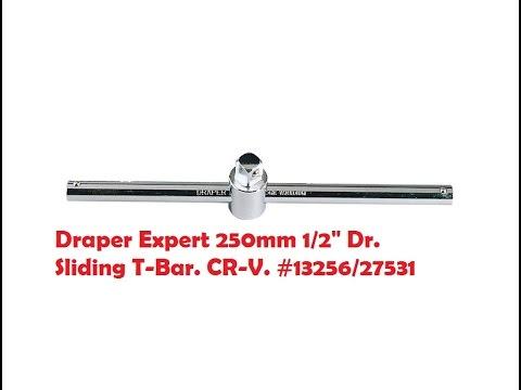 """Draper Expert 1/2"""" Dr. 250mm Sliding T- Bar. CR-V. #13256/27531"""