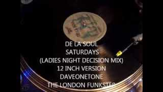 "DE LA SOUL -  A Roller Skating Jam Named ""Saturdays"" (LADIES NIGHT DECISION MIX ) 12 INCH"