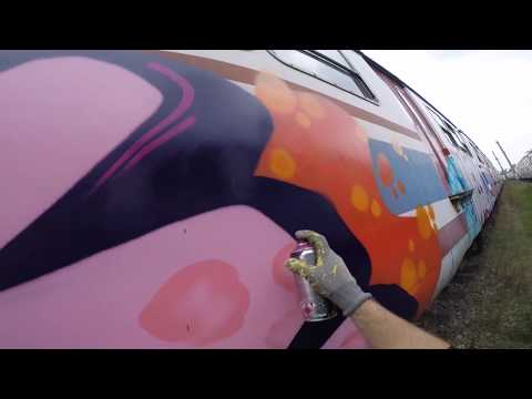 MECK - Daytime Train Graffiti