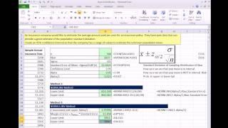 Excel 2013 التحليل الإحصائي #49: إنشاء فترات الثقة سيجما المعروف Z-Score (3 طرق)