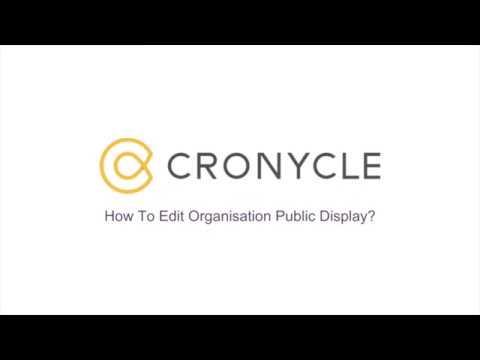 Edit Organisation Public Display