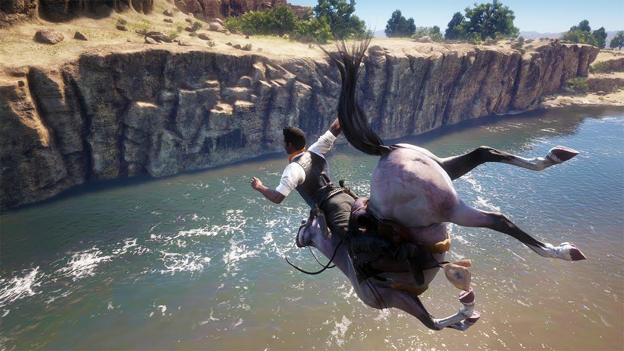 Red Dead Redemption 2 PC 60FPS - Funny & Brutal Moments Vol. 66 (Euphoria Ragdolls)