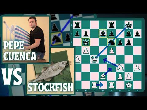 "PEPE CUENCA vs STOCKFISH: ""Joder, déjame tranquilo maldita máquina"" #pepecuencaajedrez #chess24"