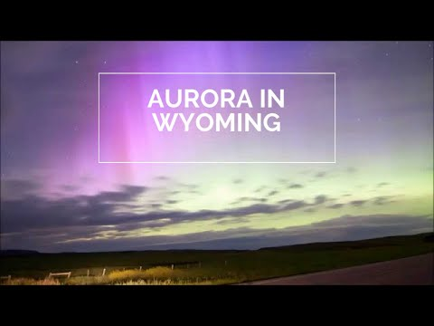 Aurora dances in the night sky in Wyoming
