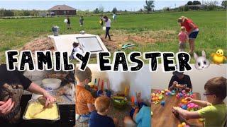 Easter Vlog + Cake Recipe // Family Egg Hunt // DITL