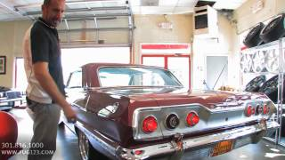 450hp 1963 Chevrolet Impala SS409 for sale with test drive, driving sounds, and walk through video