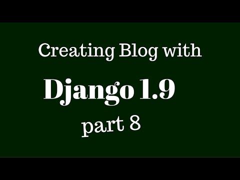 Django 1.9 Views And Templates Part-8