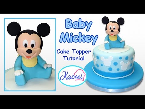 How To Make Baby Mickey Mouse Cake Topper Kaomi Tutoriales