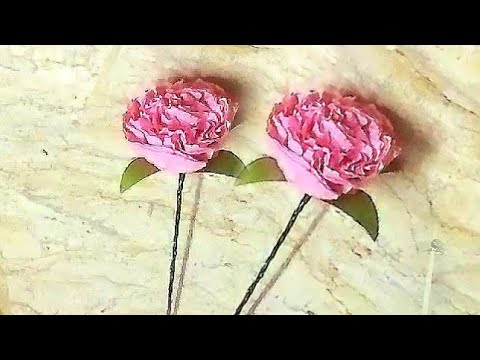Paper Flowers/home decor ideas/ tissue Paper flowers/paper craft/pearlsCreative World