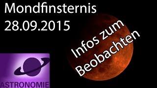 Info: Blutmond - Eine totale Mondfinsternis am 28.09.2015
