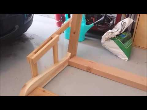 building a hanging porch swing