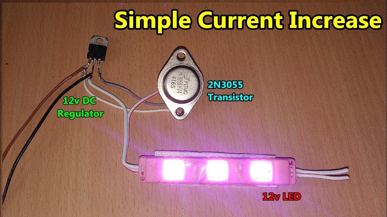 Increase Output Dc Current Using 2n3055 Transistor Youtube Circuit Uses Power Transistors Pair Of 5 X Gen