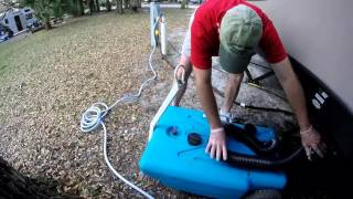 RV Portable Waste Tank - Our Blue Pooper