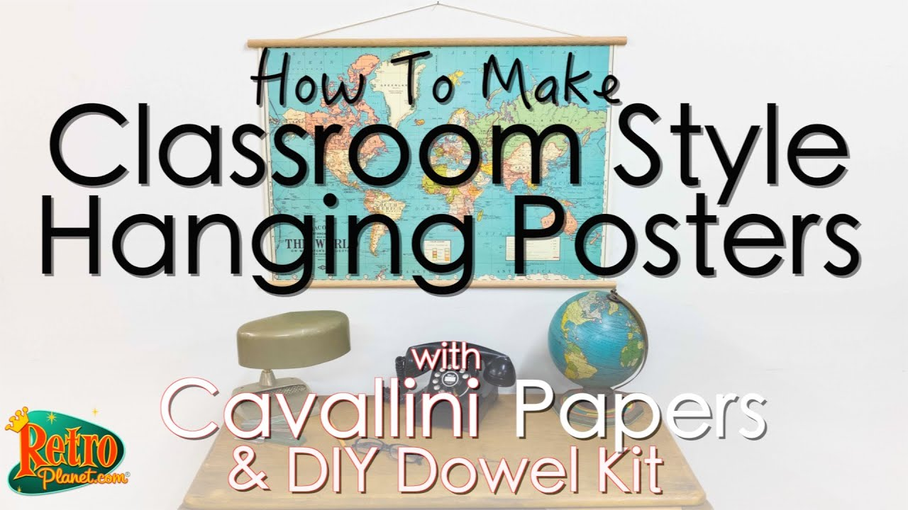 How to make classroom style hanging posters with Cavallini papers ...