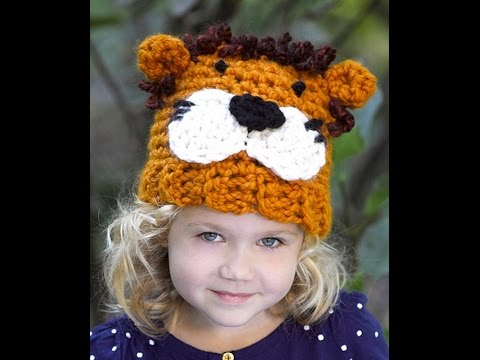 How to Crochet Lion Hat - Video 1 -  Lion Brand Yarn Pattern - YouTube b0662eafdd9