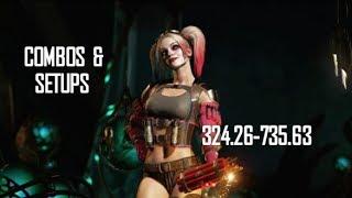 Injustice 2 Harley Quinn Combos & Setups (324.26-735.63)
