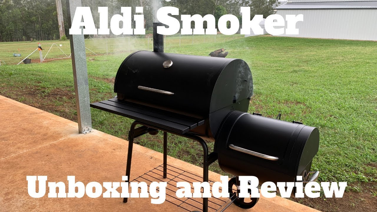 Barbecue Aldi Aldi Offset Smoker Build Smoker Assembly And Review