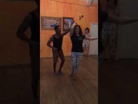 Bachata partner work with Rahul and Abi, Intermediate move with Salsa Twins Leeds