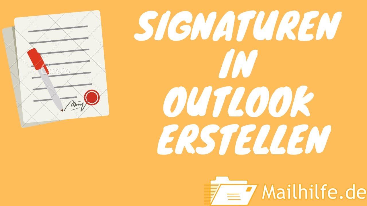 Signatur In Outlook Outlook Anleitungen Mailhilfe De