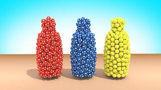 Детская Бутылочка  Цветные Мячи Развивающие мультфильмы