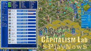 PlayNow: Capitalism Lab | PC Gameplay (Economic and Business Tycoon Game)