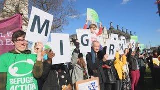 Los inmigrantes alzan su voz en el centro de Londres